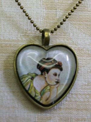 Orignal Jewelry - Once Upon a Time Antique Gold Heart